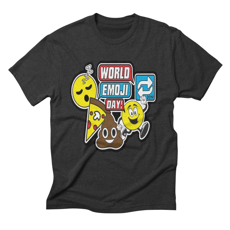 World Emoji Day Men's Triblend T-Shirt by moonjoggers's Artist Shop
