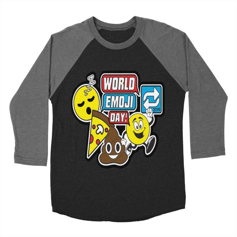 World Emoji Day Women's Baseball Triblend Longsleeve T-Shirt by moonjoggers's Artist Shop