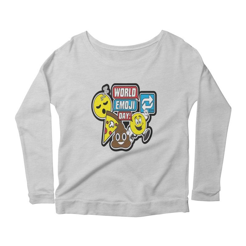 World Emoji Day Women's Scoop Neck Longsleeve T-Shirt by moonjoggers's Artist Shop