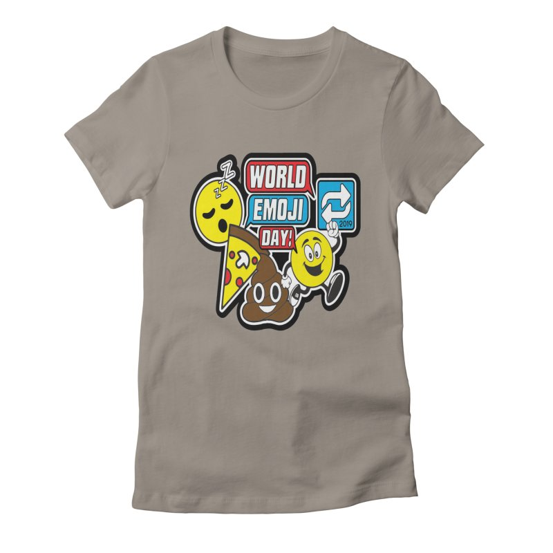 World Emoji Day Women's Fitted T-Shirt by moonjoggers's Artist Shop