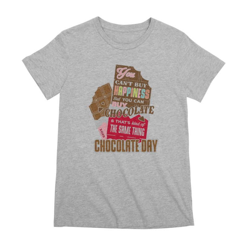 World Chocolate Day Women's Premium T-Shirt by moonjoggers's Artist Shop