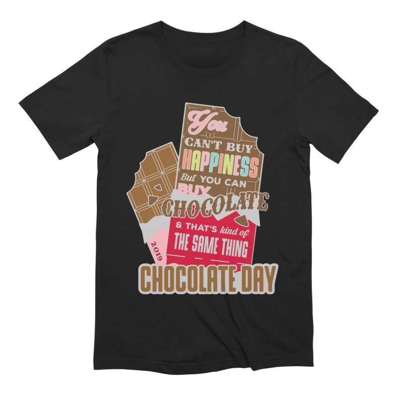 World Chocolate Day Men's Extra Soft T-Shirt by moonjoggers's Artist Shop