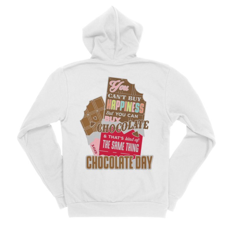 World Chocolate Day Men's Sponge Fleece Zip-Up Hoody by moonjoggers's Artist Shop