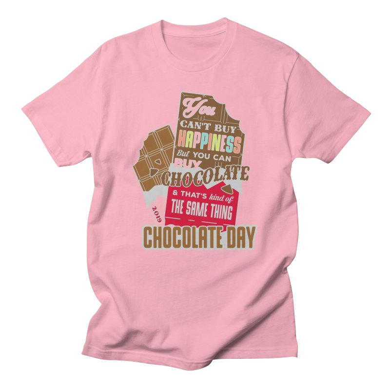 World Chocolate Day in Men's Regular T-Shirt Light Pink by Moon Joggers's Artist Shop