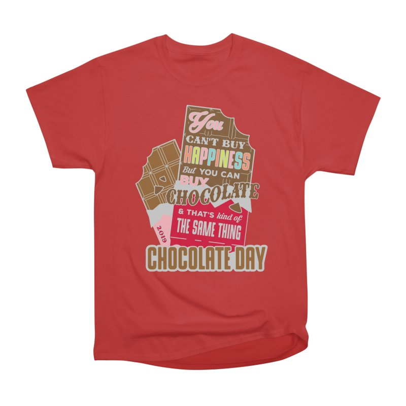 World Chocolate Day Men's Heavyweight T-Shirt by moonjoggers's Artist Shop