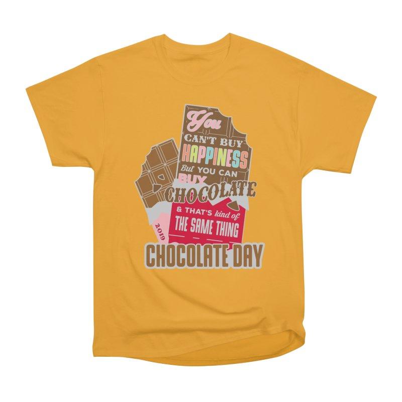 World Chocolate Day Women's Heavyweight Unisex T-Shirt by moonjoggers's Artist Shop
