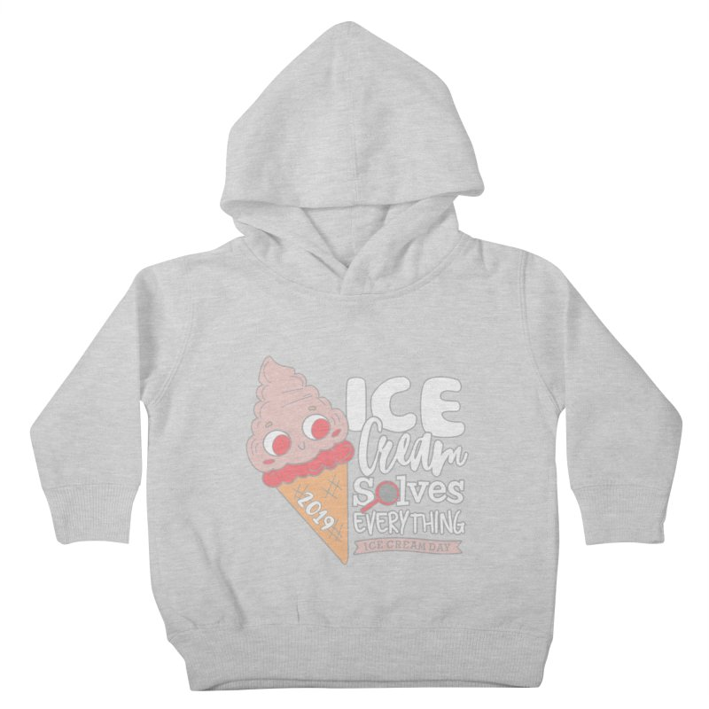 Ice Cream Day Kids Toddler Pullover Hoody by moonjoggers's Artist Shop