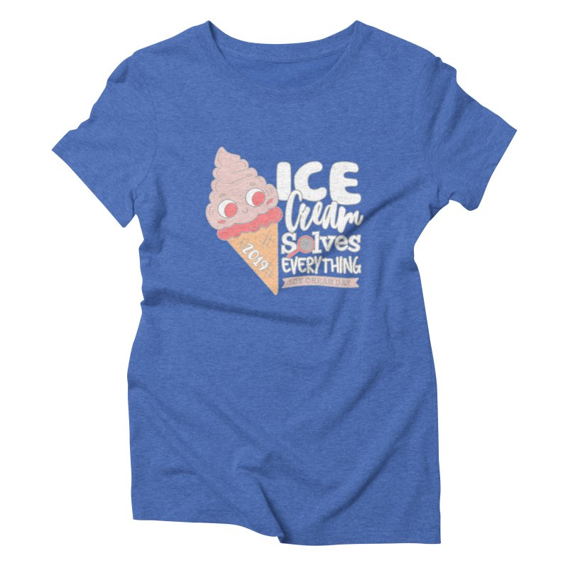 Ice Cream Day Women's Triblend T-Shirt by moonjoggers's Artist Shop