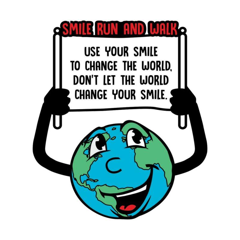 Smile Run and Walk Men's Longsleeve T-Shirt by Moon Joggers's Artist Shop