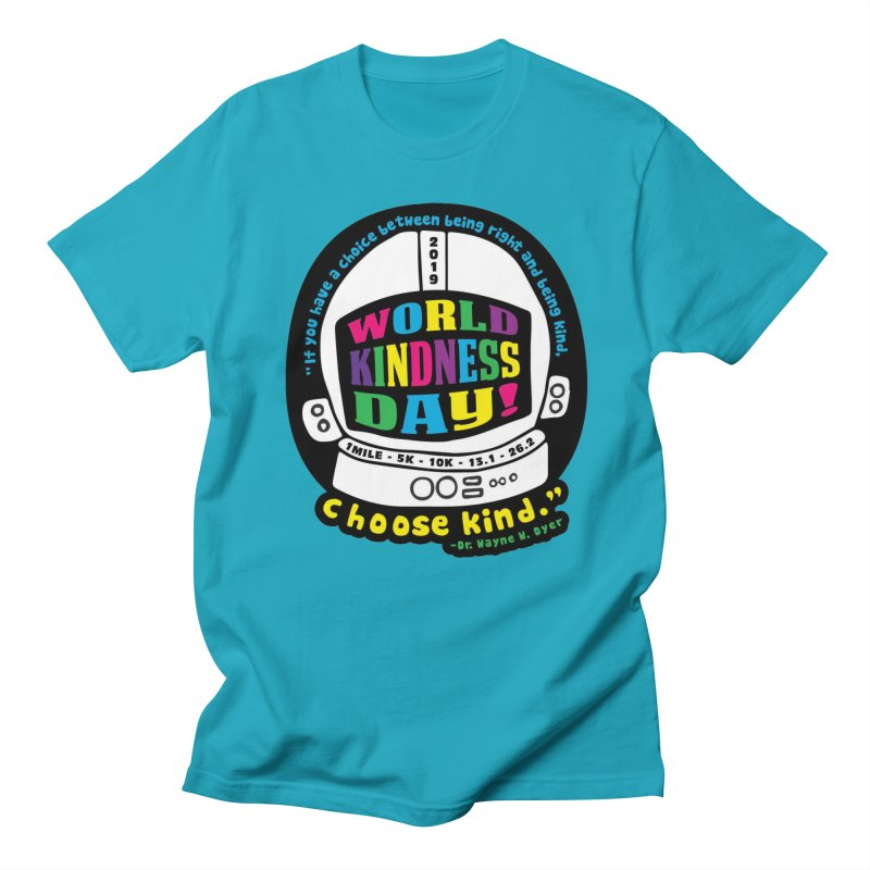 World Kindness Day in Men's Regular T-Shirt Cyan by Moon Joggers's Artist Shop
