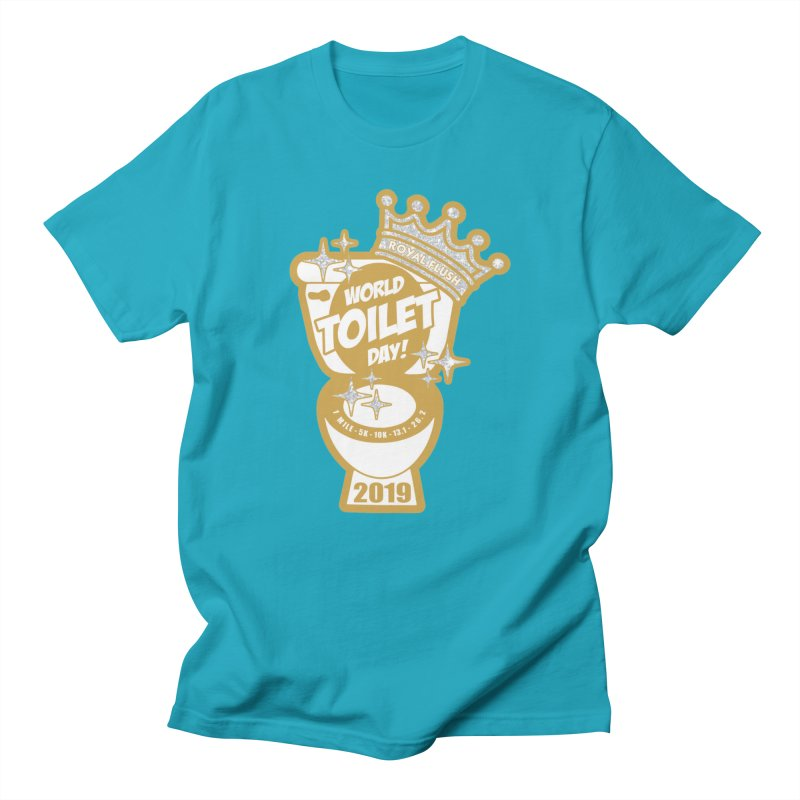 World Toilet Day in Men's Regular T-Shirt Cyan by Moon Joggers's Artist Shop