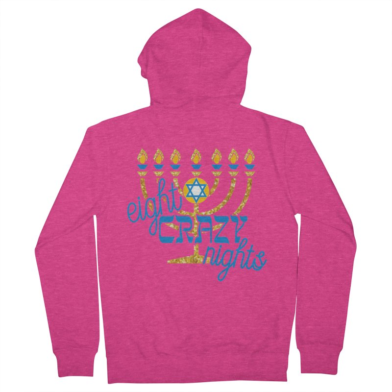Eight Crazy Nights Women's French Terry Zip-Up Hoody by moonjoggers's Artist Shop