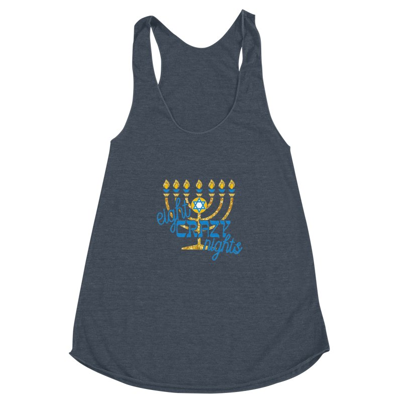 Eight Crazy Nights Women's Racerback Triblend Tank by moonjoggers's Artist Shop