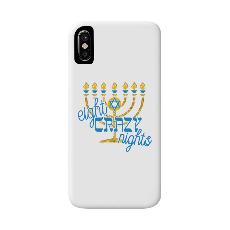 Eight Crazy Nights Accessories Phone Case by moonjoggers's Artist Shop