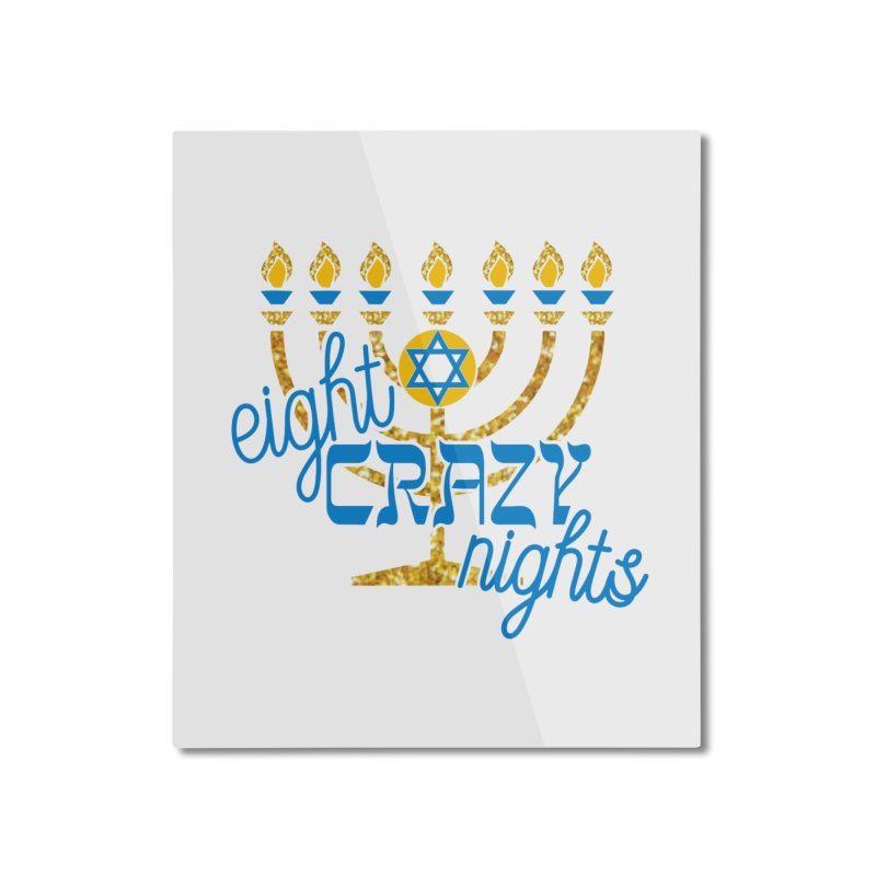 Eight Crazy Nights Home Mounted Aluminum Print by moonjoggers's Artist Shop