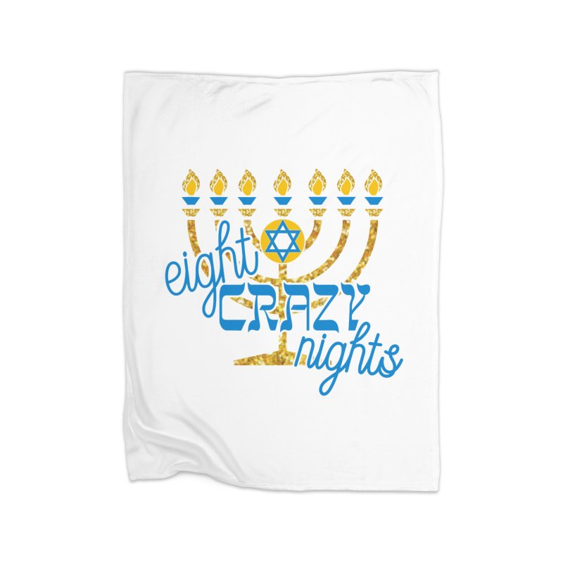 Eight Crazy Nights Home Blanket by moonjoggers's Artist Shop