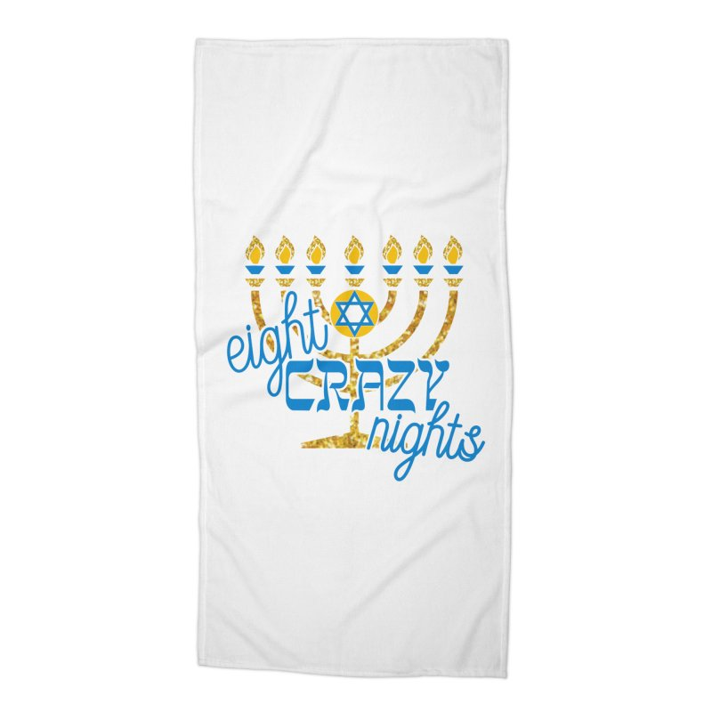 Eight Crazy Nights Accessories Beach Towel by moonjoggers's Artist Shop
