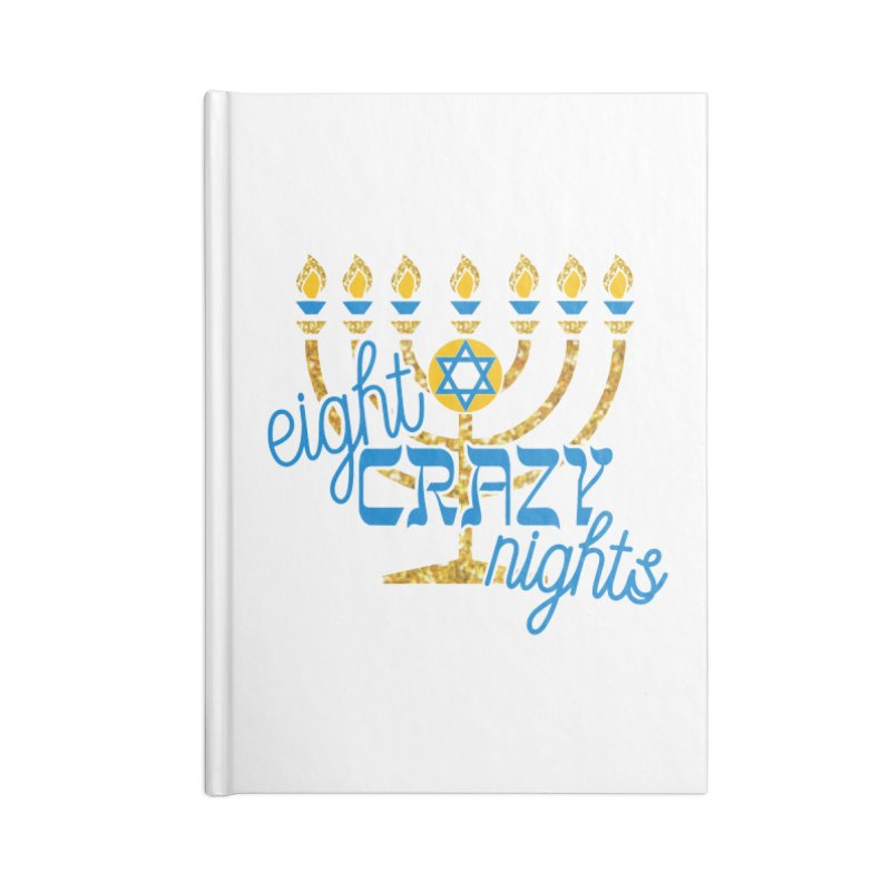 Eight Crazy Nights Accessories Notebook by moonjoggers's Artist Shop