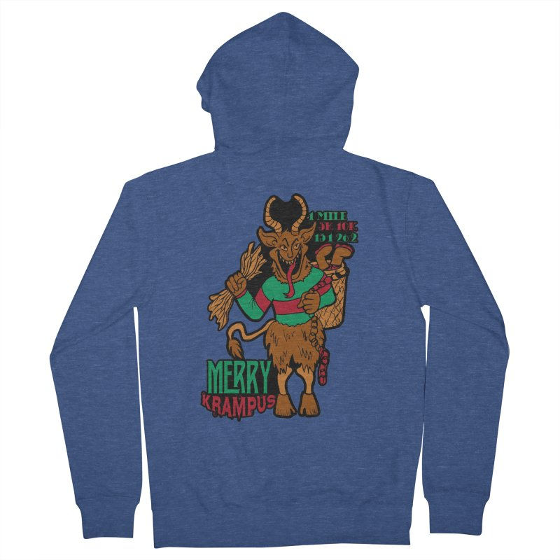 Krampus Men's French Terry Zip-Up Hoody by moonjoggers's Artist Shop
