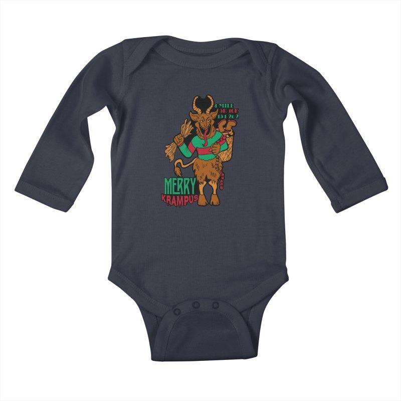 Krampus Kids Baby Longsleeve Bodysuit by moonjoggers's Artist Shop