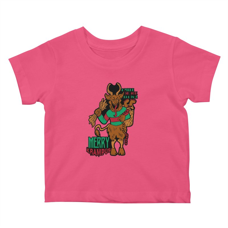 Krampus Kids Baby T-Shirt by moonjoggers's Artist Shop
