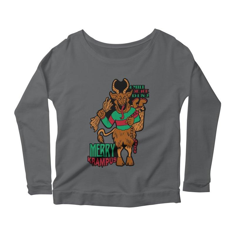 Krampus Women's Scoop Neck Longsleeve T-Shirt by moonjoggers's Artist Shop
