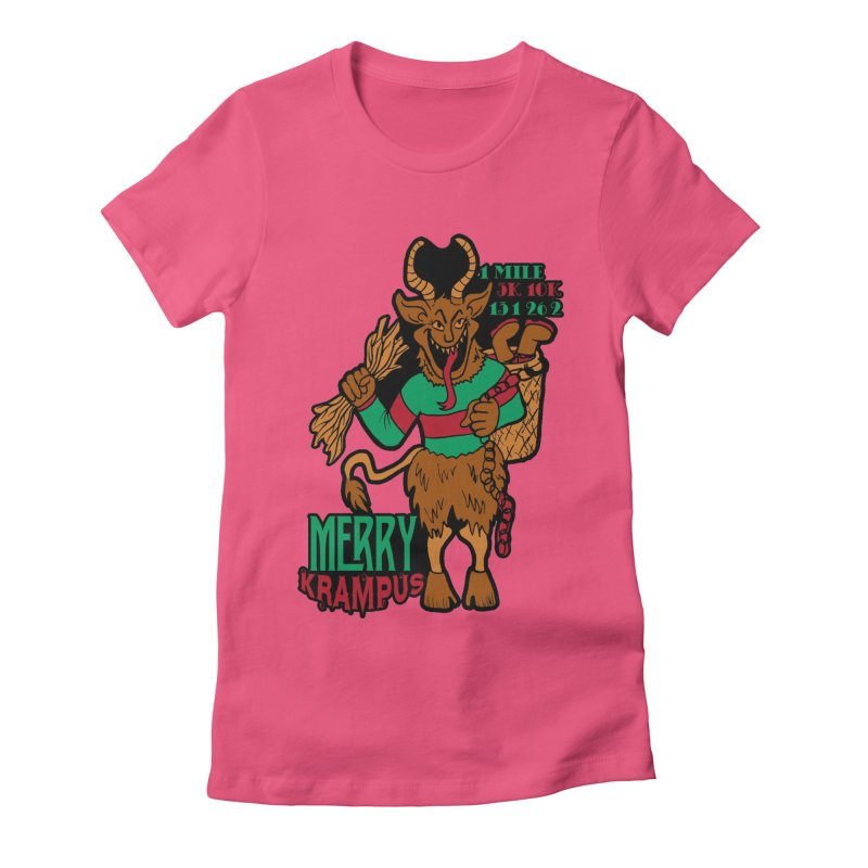 Krampus Women's Fitted T-Shirt by moonjoggers's Artist Shop