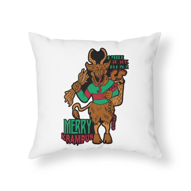 Krampus Home Throw Pillow by moonjoggers's Artist Shop