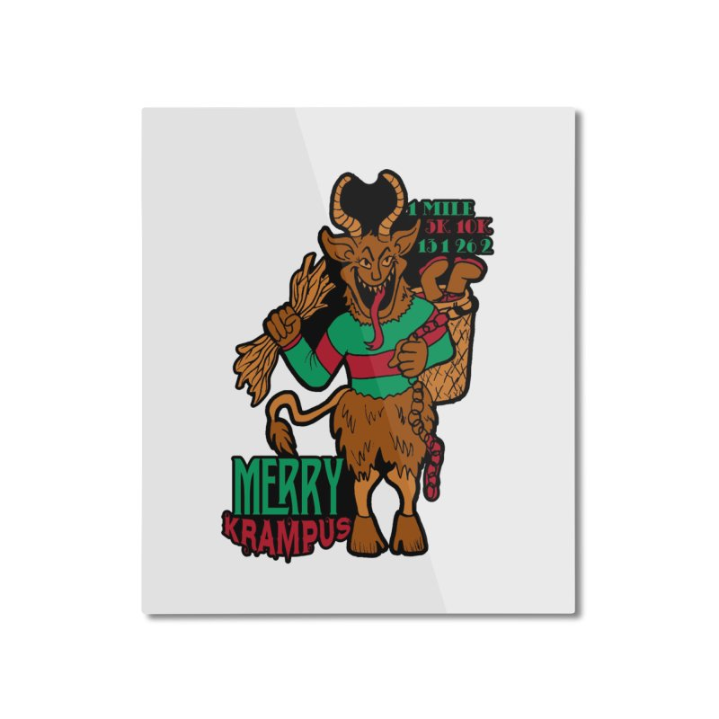 Krampus Home Mounted Aluminum Print by moonjoggers's Artist Shop