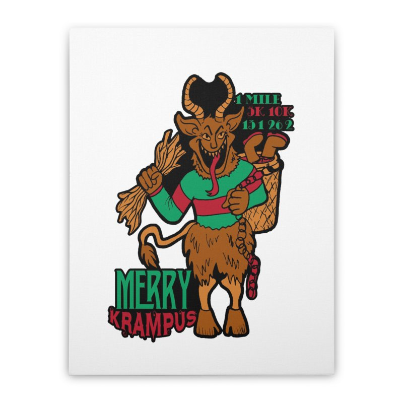 Krampus Home Stretched Canvas by moonjoggers's Artist Shop