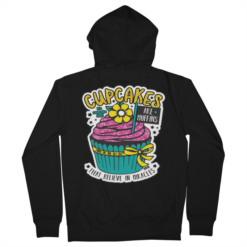 Cupcake Day Women's French Terry Zip-Up Hoody by moonjoggers's Artist Shop