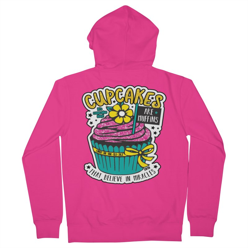Cupcake Day Men's French Terry Zip-Up Hoody by moonjoggers's Artist Shop