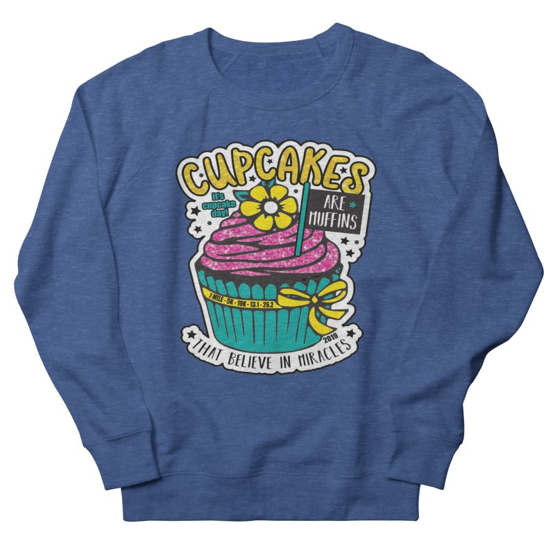 Cupcake Day Women's French Terry Sweatshirt by moonjoggers's Artist Shop