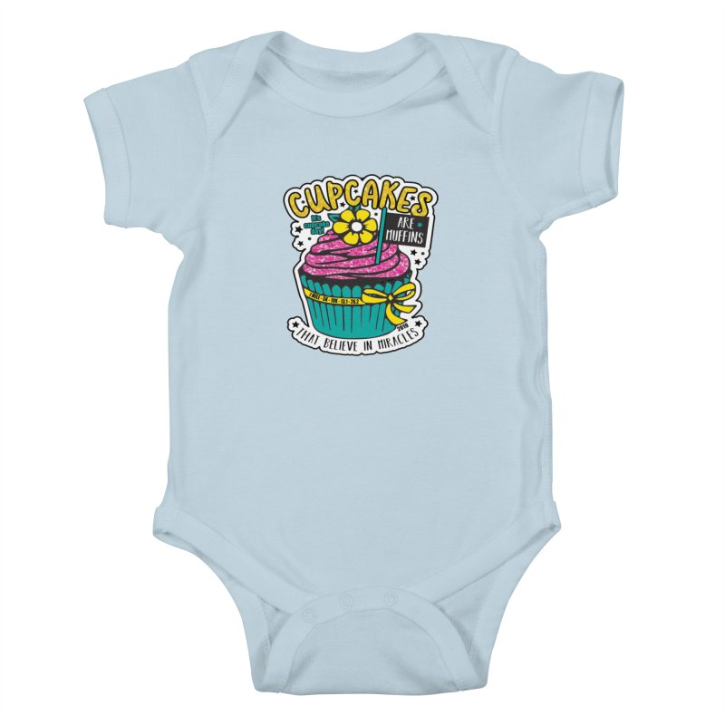 Cupcake Day Kids Baby Bodysuit by moonjoggers's Artist Shop