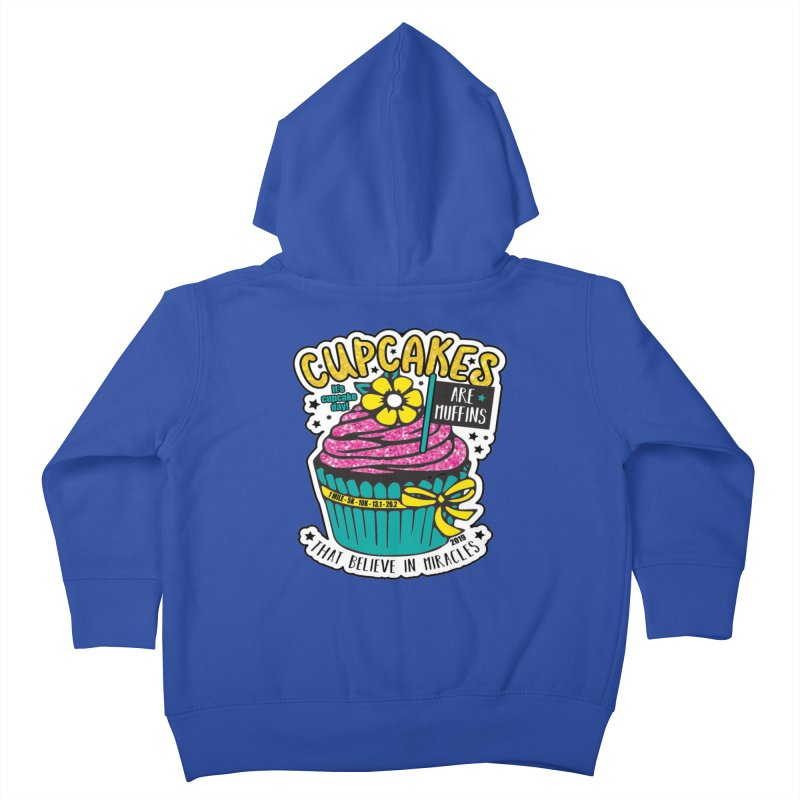 Cupcake Day Kids Toddler Zip-Up Hoody by moonjoggers's Artist Shop