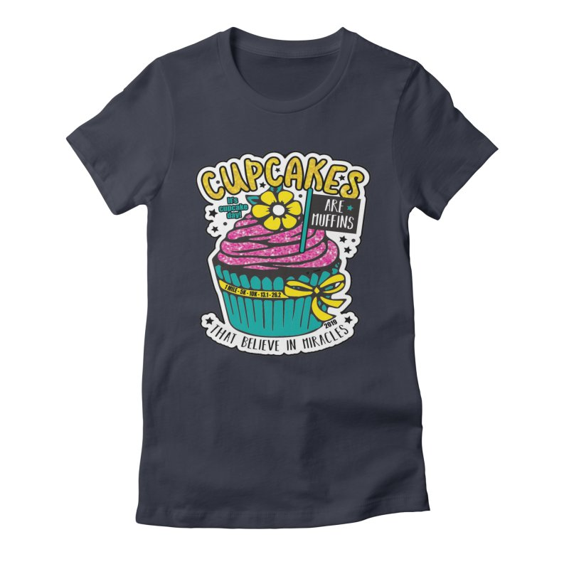 Cupcake Day Women's Fitted T-Shirt by moonjoggers's Artist Shop