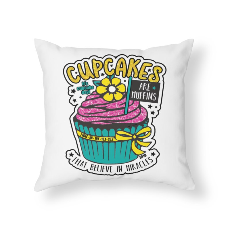 Cupcake Day Home Throw Pillow by moonjoggers's Artist Shop
