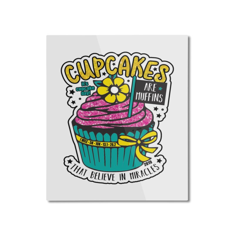 Cupcake Day Home Mounted Aluminum Print by moonjoggers's Artist Shop