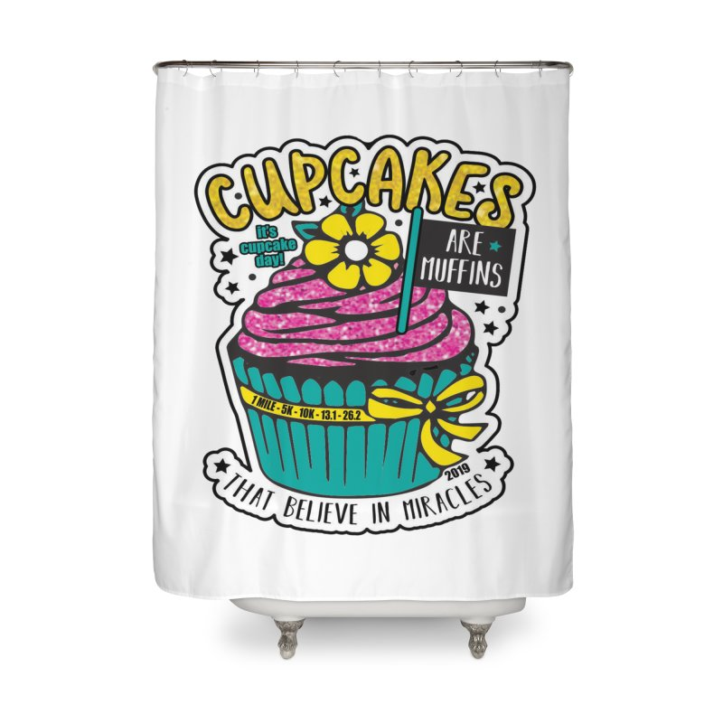 Cupcake Day Home Shower Curtain by moonjoggers's Artist Shop