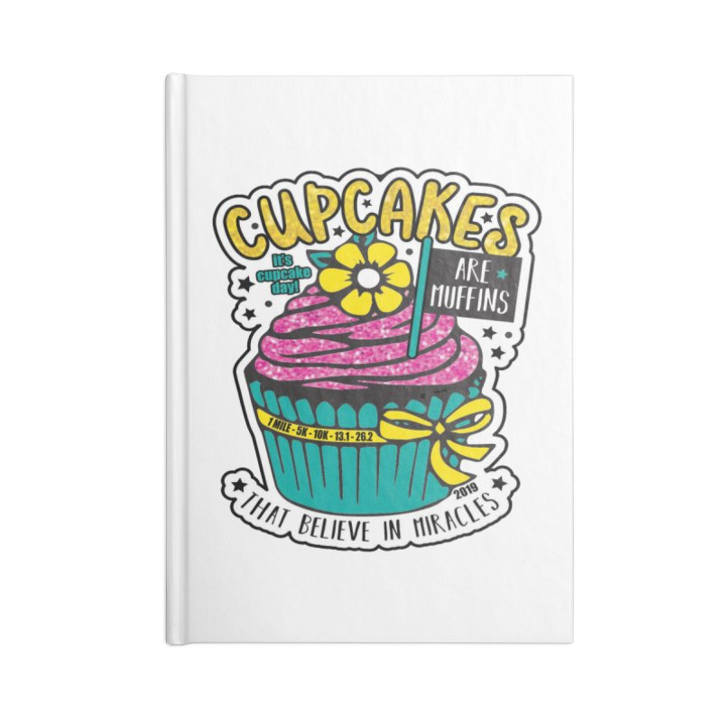 Cupcake Day Accessories Notebook by moonjoggers's Artist Shop