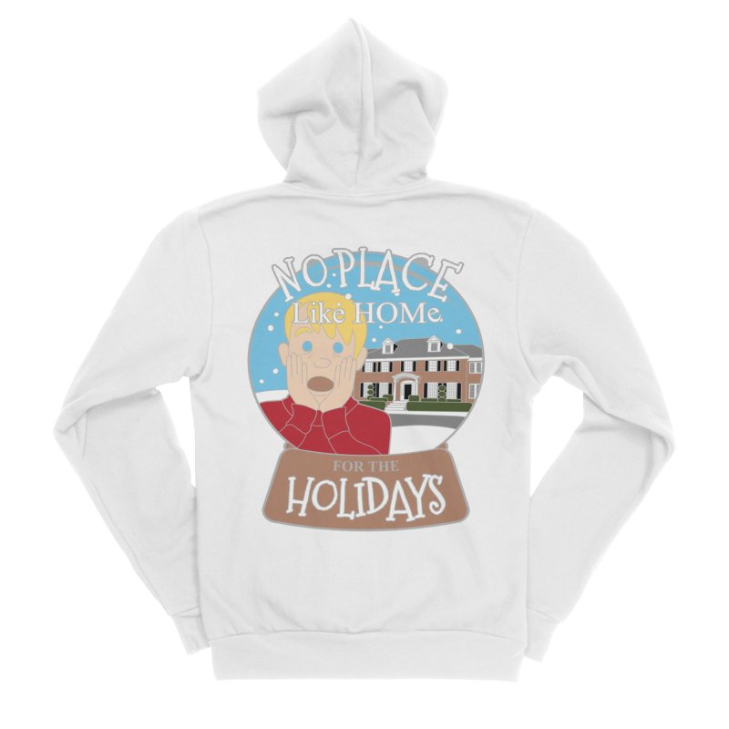 No Place Like Home For The Holidays Men's Sponge Fleece Zip-Up Hoody by Moon Joggers's Artist Shop