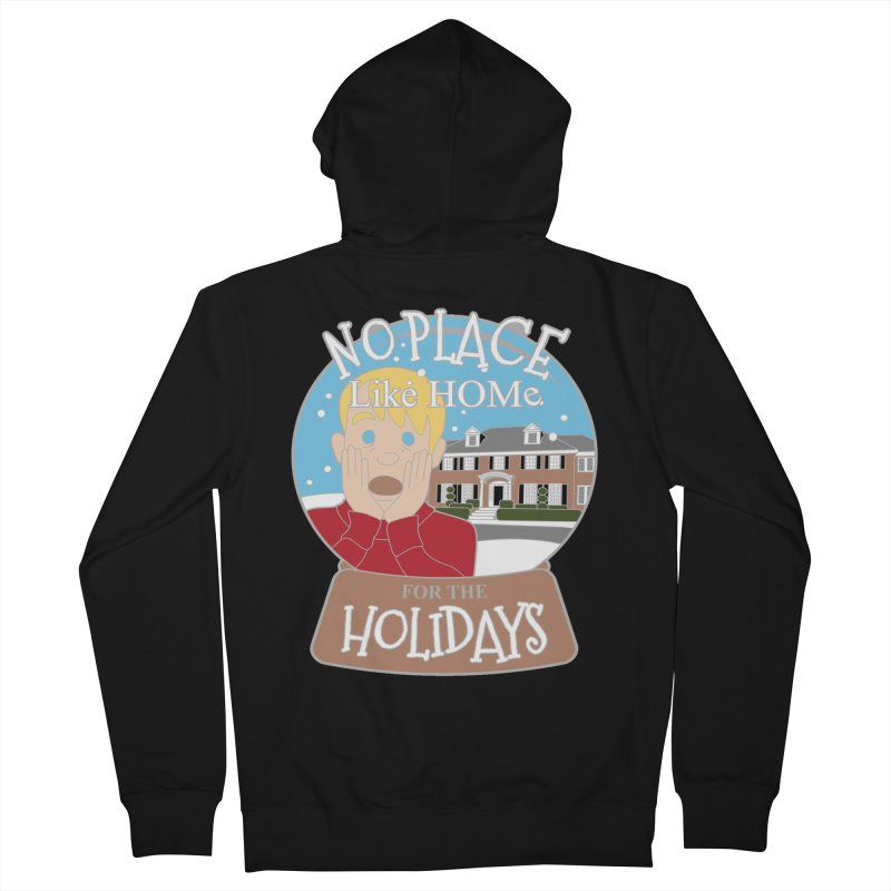 No Place Like Home For The Holidays Men's French Terry Zip-Up Hoody by moonjoggers's Artist Shop