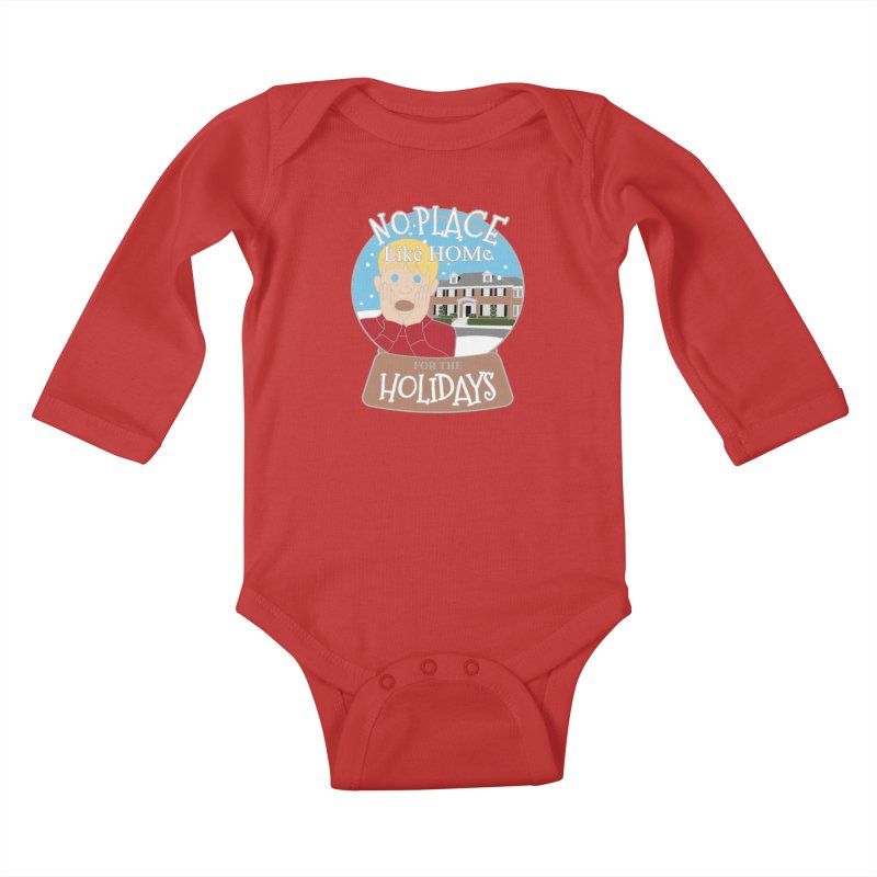 No Place Like Home For The Holidays Kids Baby Longsleeve Bodysuit by moonjoggers's Artist Shop