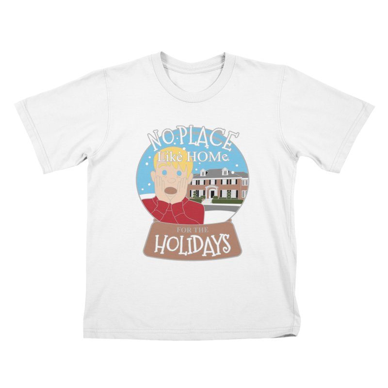 No Place Like Home For The Holidays Kids T-Shirt by Moon Joggers's Artist Shop