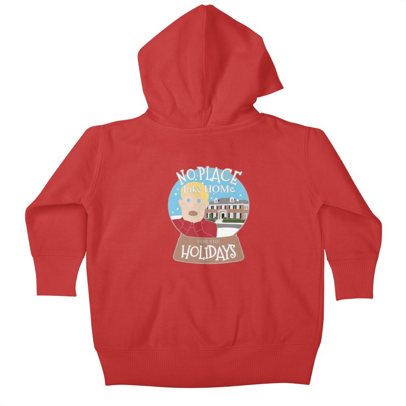 No Place Like Home For The Holidays Kids Baby Zip-Up Hoody by Moon Joggers's Artist Shop