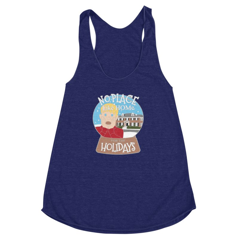 No Place Like Home For The Holidays Women's Racerback Triblend Tank by moonjoggers's Artist Shop