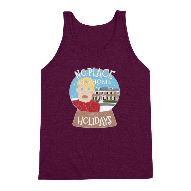 No Place Like Home For The Holidays Men's Triblend Tank by Moon Joggers's Artist Shop
