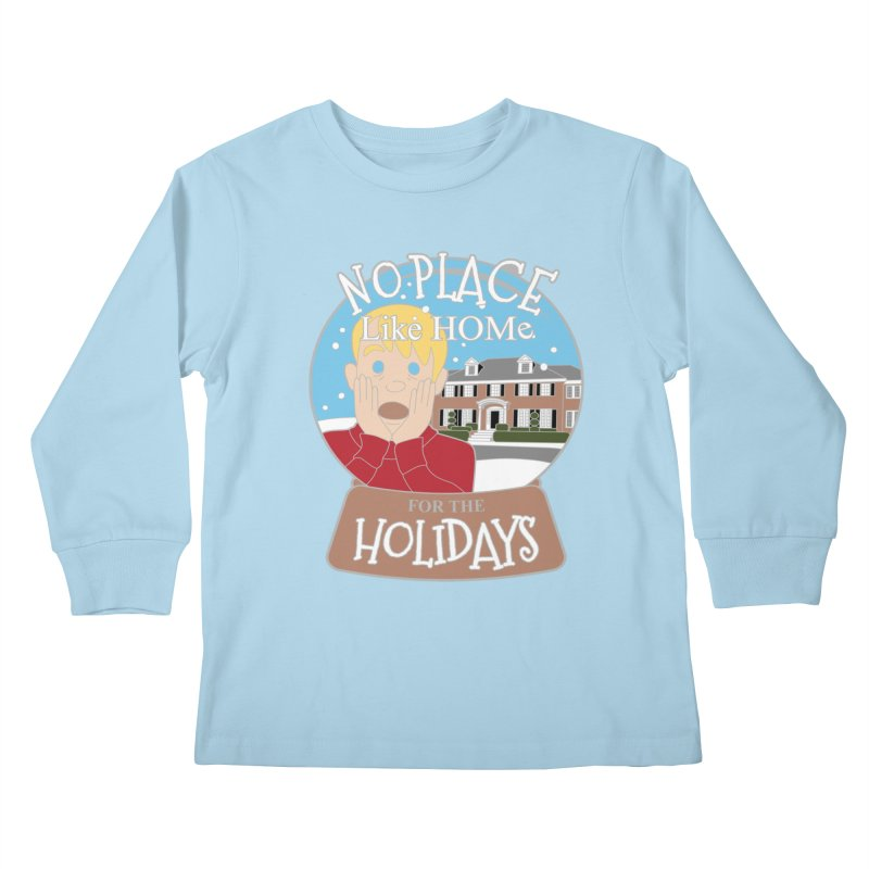 No Place Like Home For The Holidays Kids Longsleeve T-Shirt by Moon Joggers's Artist Shop