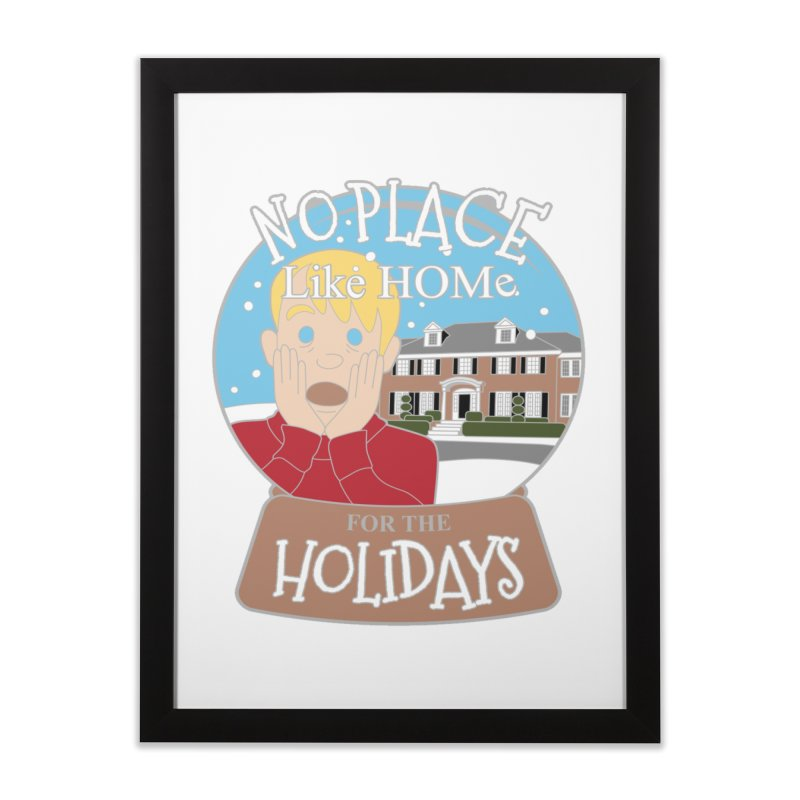 No Place Like Home For The Holidays Home Framed Fine Art Print by moonjoggers's Artist Shop
