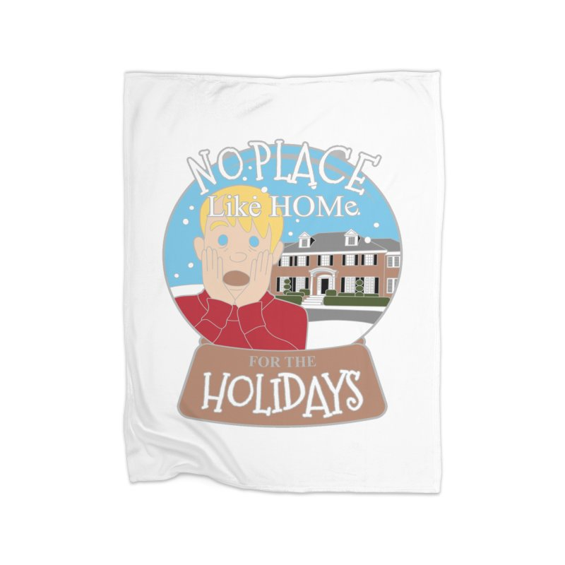 No Place Like Home For The Holidays Home Fleece Blanket Blanket by Moon Joggers's Artist Shop